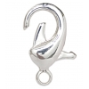 Lobster Clasp 26mm Brass Nickel free, Lead free Silver Plated